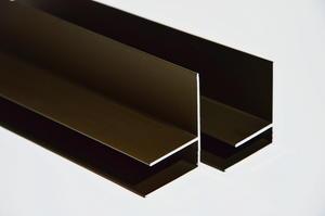 """Boční """"F"""" profil 3m 10mm - hnědý elox - 1/2"""
