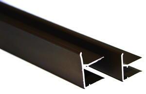 """Ukončovací AL """"U"""" profil s prodlouženou hranou 6,4m 10mm - hnědý elox - 1/2"""