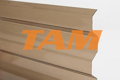 Trapézový polykarbonát 1045x6000mm bronz se strukturou krupička