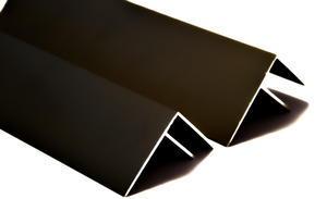 """Boční """"F"""" profil 3m 16mm - hnědý elox - 2/2"""