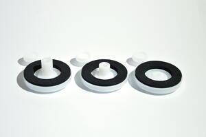 Přítlačný terčík s nyl. podložkou bílý - pro tloušťku polykarbonátu 10 mm - 2/2