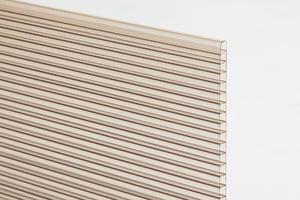 Komůrkový polykarbonát tl.10mm 2100x7000mm bronz