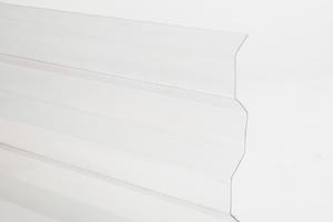 Trapézový polykarbonát 1045x6000mm čirá se strukturou krupička